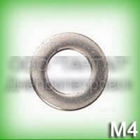 Шайба 4 нержавеющая ГОСТ 10450-78 (DIN 433, ISO 7092) А2 уменьшенная плоская
