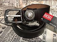 Кожаный ремень Diesel под джинсы, длина 105-125 см.ширина 3.8 см Цвет коричневый