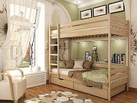 Двухярусная кровать Дуэт, массив дуб, ясень, фото 1