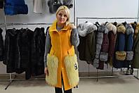 Эксклюзивное  пальто на карманах мех чернобурки в наличии 44-48