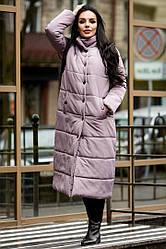 Пальто зимнее стильное стеганная плащевка канада   + (2 цвета)