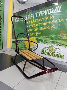 Санки як Тако Grand дитячі зі спинкою та ручкою бордовий П-0009 Україна