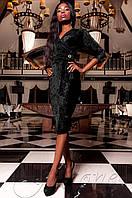 Черное бархатное платье Модус  Jadone  42-48 размеры