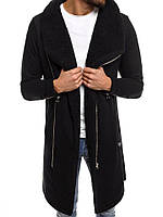 Мужской зимний кардиган черный с мехом 045, фото 1