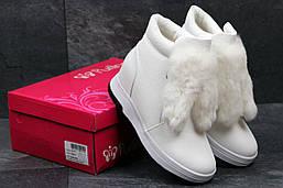 Женские зимние ботинки Purlina (белые), ТОП-реплика