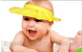 Шапочка-козырек для купания, желтая