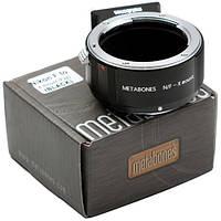 Metabones Nikon F Lens to Fujifilm X-Mount Camera T Adapter (Black) (MB_NF-X-BT1), фото 1