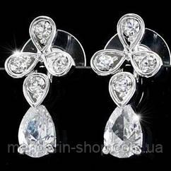 Серьги Dangle 2 Carat Cubic Zirconia CZ Earrings SE282