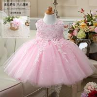 """Детское нарядное розовое платье с бантом """"Розочка"""""""