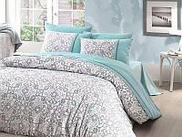 Комплект постельного белья First Choice Ranforce Deluxe Евро Beatrriz-turkuaz