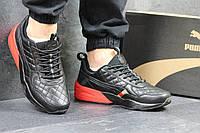 Мужские кроссовки Ronnie Fieg x HIGHSNOBIETY x PUMA черные с красным 3879
