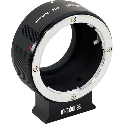 Metabones Olympus OM Mount Lens to Fujifilm X-Mount Camera Lens Mount Adapter (Black Matte) (MB_OM-X-BM1)