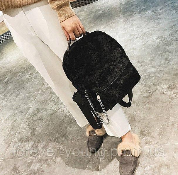 c0c8fa0f2662 Рюкзак меховой черный,серый, красный - Интернет-магазин