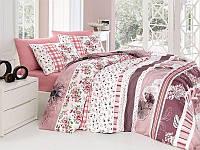 Комплект постельного белья First Choice Ranforce Евро Bennu-pudra