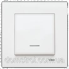Выключатель с подсветкой 1-клав. VIKO Karre белый