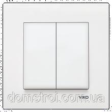 Выключатель 2-клав. VIKO Karre белый