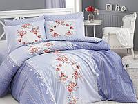 Комплект постельного белья First Choice Ranforce Евро Delfina indigo