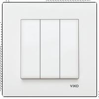 Выключатель 3-клав. VIKO Karre белый