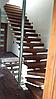 Обшивка металлокаркасса лестницы деревом