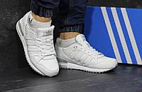 Кроссовки мужские Adidas ZX 750 (белые), ТОП-реплика, фото 1