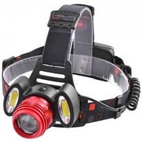 Налобный фонарь Luxury 2118 T6+2xCOB