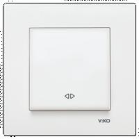Выключатель реверсивный (перекрестный) VIKO Karre белый