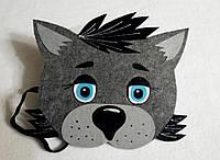 Карнавальная маска на лоб волк. Для сюжетно ролевых игр.