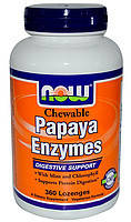 NOW фермент папайи Chewable Papaya Enzyme (360 lozenges)