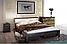 Кровать деревянная двуспальная Венеция М с мягким изголовьем, фото 10
