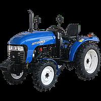 Трактор JINMA JMT 3244 HX (3 цил, ГУР, КПП(16+4), 2-х дисковое сцепление, сиденье на пружине, 7,50-16/11,2-24)