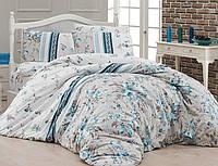 Комплект постельного белья First Choice Ranforce Евро Peggy-turkuaz