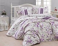 Комплект постельного белья First Choice Ranforce Евро Peggy-lila