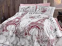 Комплект постельного белья First Choice Ranforce ранфорс евро арт.Romantica pudra