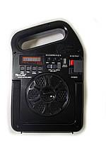 Радио колонка с проигрывателем MP3 фонарь от солнечной батареи LED лампы PowerBank GOLON RX-498BT, фото 1