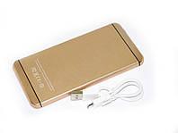 УМБ портативная зарядка Power Bank UKC M6 15000 mAh Iphone style Gold