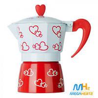 Гейзерная кофеварка 3 чашки Hearts R16593