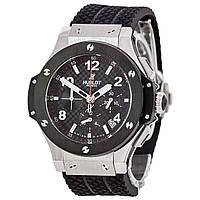 Часы Hublot Big Bang Ceramica Chronograph 44mm Silver/Black. Реплика: ААА, фото 1