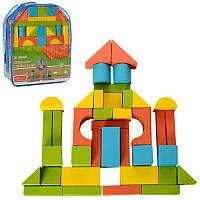 Детская деревянная игрушка Городок A03154 конструктор, Деревянный набор Городок конструктор 39 деталей