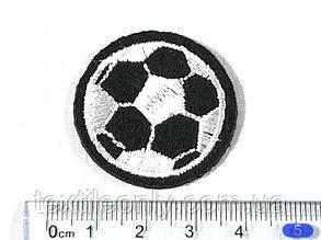 Нашивка футбольный мяч черный 35 мм , фото 2