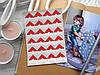 Уголки для фото, самоклеющиеся, красные, 1 лист (24 шт)