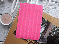 Уголки для фото, самоклеющиеся, прозрачные + розовые, 1 лист (102 шт), фото 1