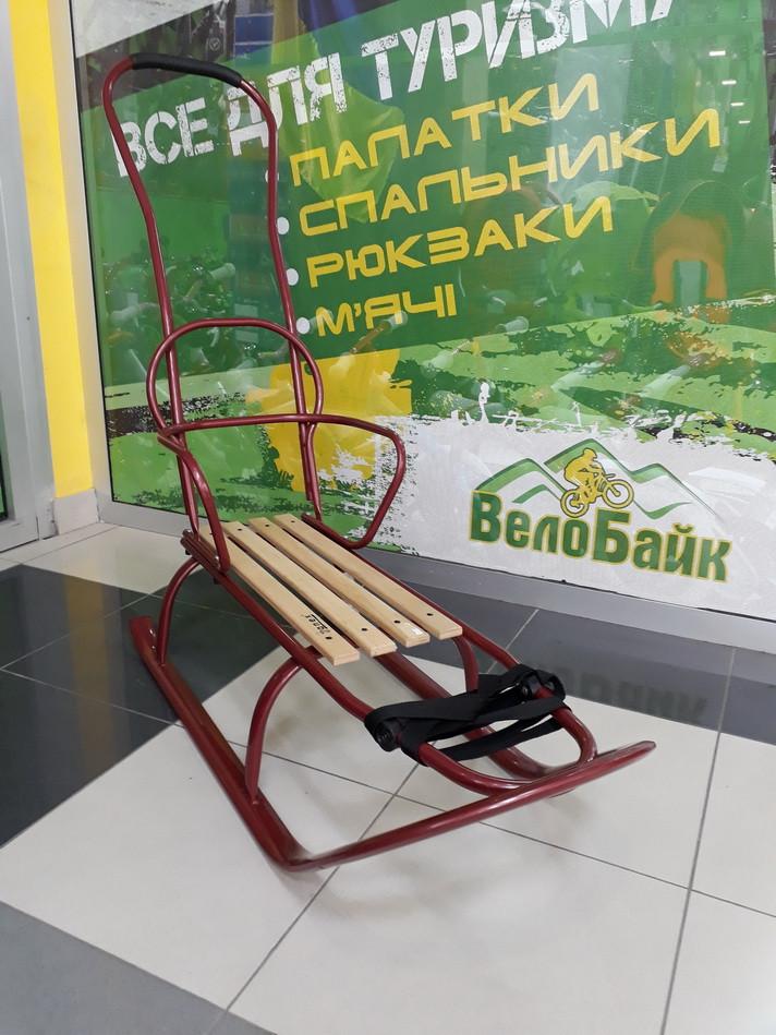 Санки дитячі зі спинкою та ручкою ANEX червоний 999492 Україна/Польща