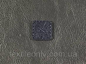 Нашивка New York квадрат  цвет темно синий 20x20 мм фетр, фото 2