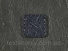 Нашивка New York квадрат колір темно синій 20x20 мм фетр