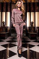Женский розовый костюм Молити Jadone Fashion 42-48 размеры