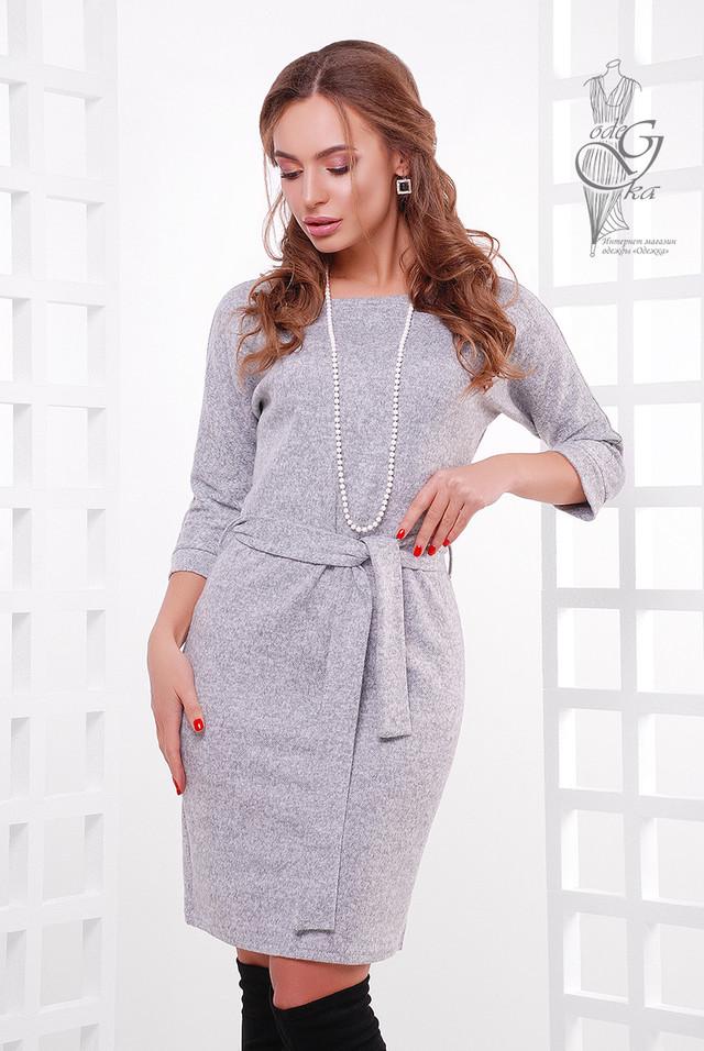 Серый цвет Ангорового женского платья Мелани