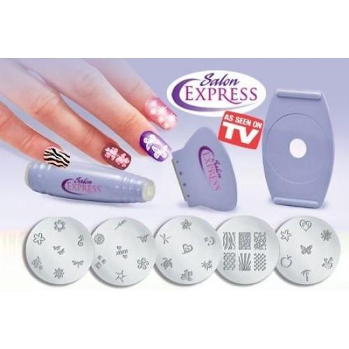 Маникюрный набор для узоров Salon Express Nail Art Stamping Kit, набор для стемпинга, фото 1