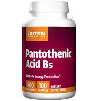 Jarrow Formulas Пантотеновая кислота д - пантотенат кальция Pantothenic Acid B5 500 mg 100 cap