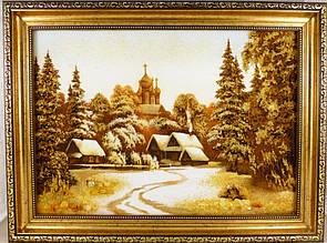 Красивая картина из янтаря