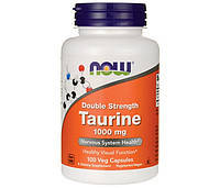 NOW Аминокислота Таурин Double Strenth Taurine 1000 mg (100 veg caps)